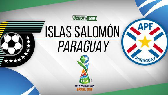 Paraguay vs. Islas Salomón EN VIVO por Mundial Sub 17 Brasil 2019. (Depor)