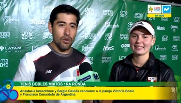 Anastasia Iamachkine y Sergio Galdón avanzaron a la siguiente ronda en la modalidad de dobles mixtos. (Captura)
