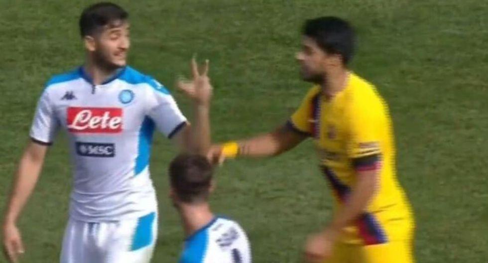 Manolas le recordó a Suárez el 3-0 de la Roma e hirió su orgullo en amistoso en USA
