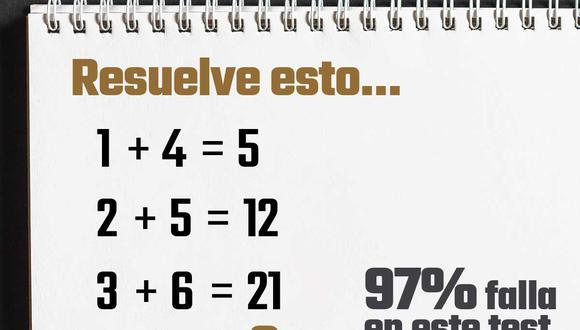 Pon a prueba tus habilidades matemáticas intentando resolver este acertijo lógico que hizo que muchos fanáticos de los números se dieran por vencidos. | Crédito: GEC