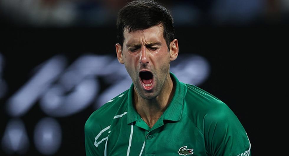 Novak Djokovic venció a Roger Federer y pasó a la final del Australian Open 2020. (Getty Images)
