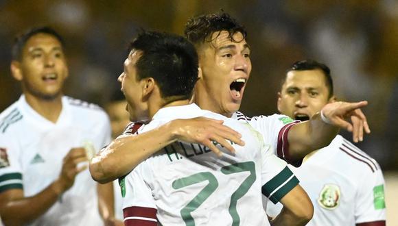 México venció a El Salvador por las Eliminatorias y está cerca de la clasificación al Mundial de Catar. (Foto: AFP).