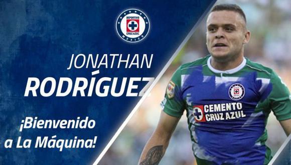 Jonathan Rodríguez jugó en Santos Laguna en los dos últimos años y medio. (Foto: Cruz Azul)
