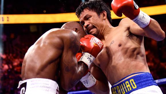 Pacquiao no pudo ante Yordenis Ugás y cayó en la pelea por el título de la AMB | Foto: AFP