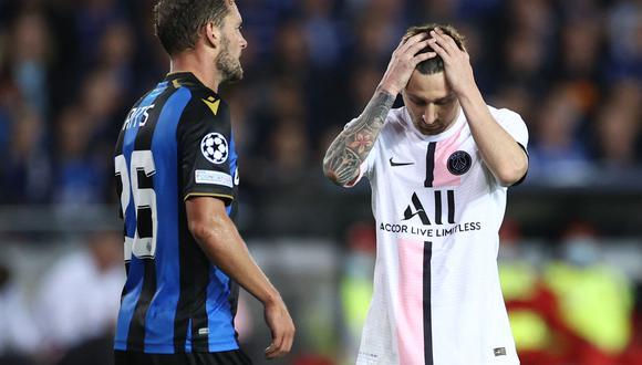 Lionel Messi debutó como titular en el PSG, pero solo obtuvo un empate ante el Brujas, por la Champions. (Foto: AFP).