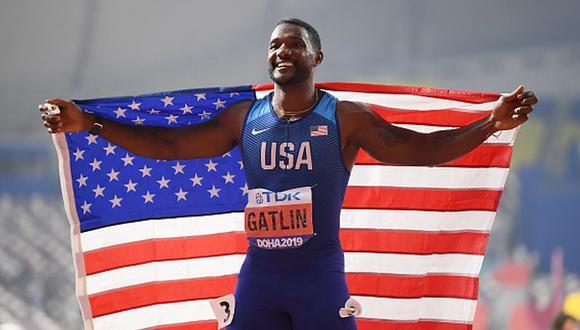 Velocista Justin Gatlin postergó su retiro para poder competir en los Juegos Olímpicos en 2021. (Getty Images)