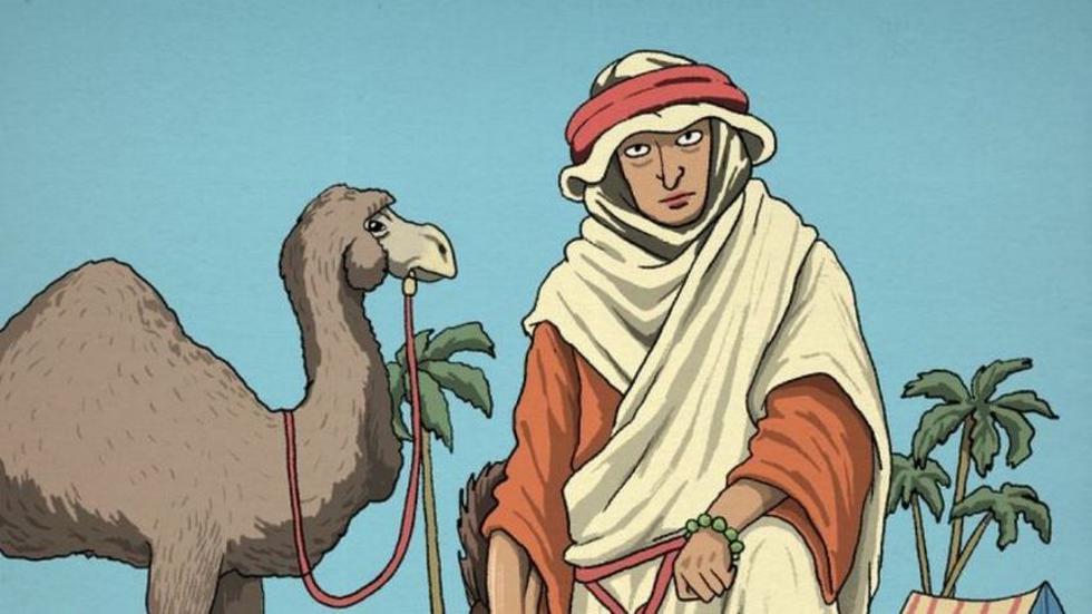 Ubica la cabeza de caballo escondida en el viral del hombre y el camello. (Napsix)