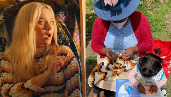 Katy Perry utilizó un vestido tejido por una artesana de Huaraz, Perú. (Foto: Captura YouTube/@escvdo)