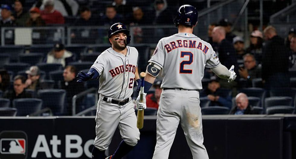 Los Astros lideran la serie 3-1 sobre los Yankees en los playoffs de la MBL. (Getty Images)