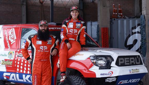 Fernanda Kanno correrá el Dakar 2020 junto a su copiloto Alonso Carrillo. (Foto: Jesús Saucedo/GEC)