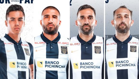 Ricardo Lagos, Josepmir Ballón, Pablo Míguez y Hernán Barcos son los jugadores con más minutos en Alianza Lima. (Foto: Prensa AL / Collage)