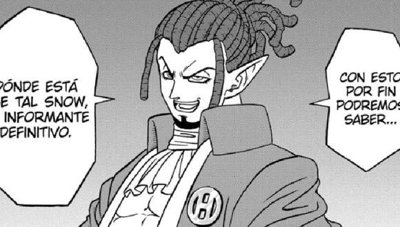 Elec menciona a Snow en el manga Dragon Ball Super (Shueisha)