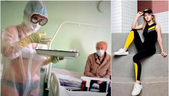 Enfermera rusa que se volvió viral por atender en ropa interior consiguió trabajo en televisión. (Instagram)