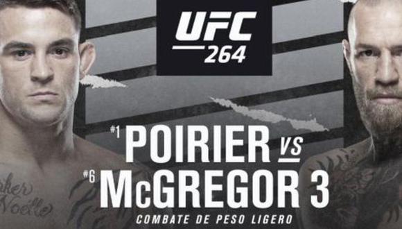 UFC 264: fecha, horarios y canales de la esperada trilogía de Conor McGregor vs. Dustin Poirier. (UFC)