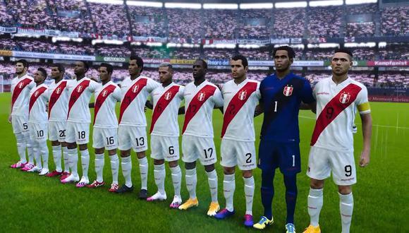 La selección peruana en PES 2021 (Konami)
