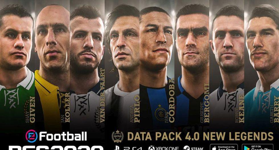 PES 2020: 50 nuevas caras de jugadores y ocho leyendas llegan en el Data Pack 4.0.