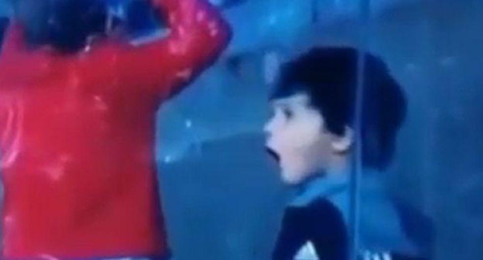 Así fue la reacción de Mateo Messi en el Argentina vs. Brasil. (Video: Difusión)
