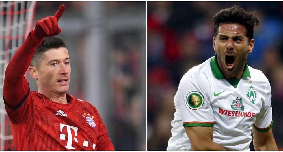 Claudio Pizarro y Robert Lewandowski jugaron juntos en Bayern Munich (Foto: Reuters)..