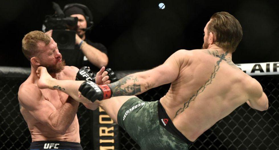 McGregor venció a 'Cowboy' Cerrone por knock out desde Las Vegas, Nevada por pelea peso wélter. (Twitter)