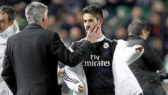 Isco y Ancelotti coincidieron dos temporadas en el Real Madrid. (Foto: Marca)