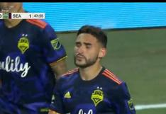 Ruidíaz inició la jugada: Roldán anotó el 1-0 en León vs. Seattle por la final de Leagues Cup [VIDEO]