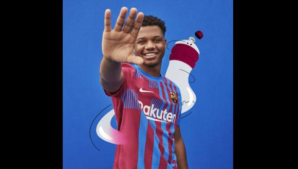 La camiseta del Barcelona para la temporada 2021-22. (Difusión)