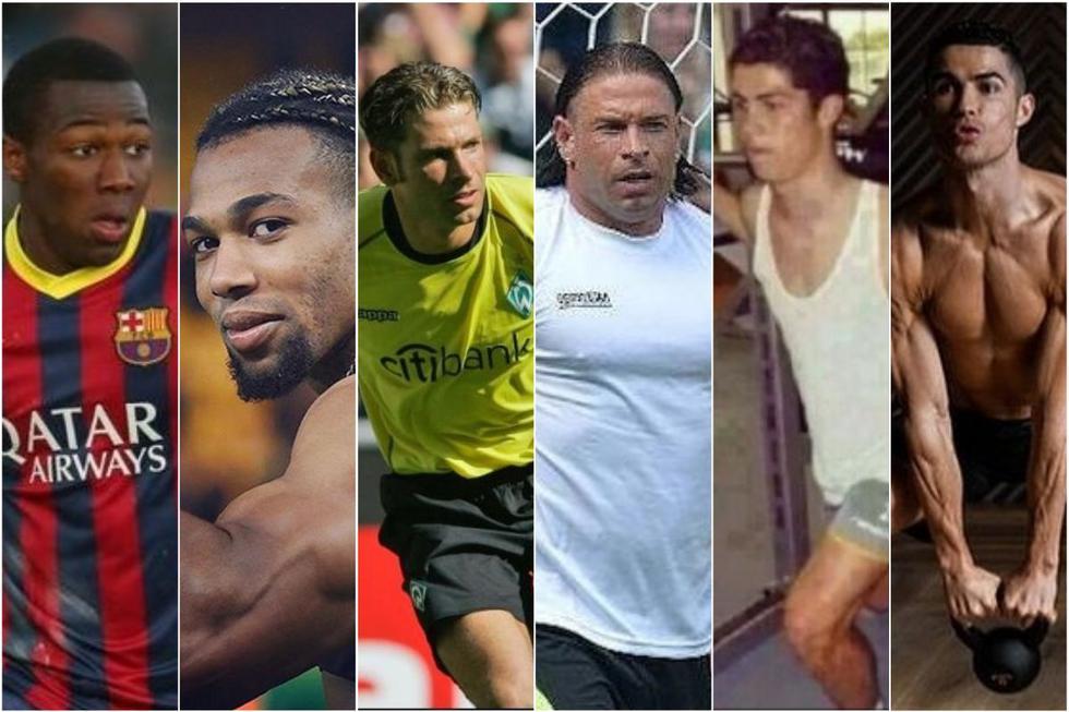 De alfeñiques a súper musculosos: las transformaciones físicas más impresionantes en el fútbol.