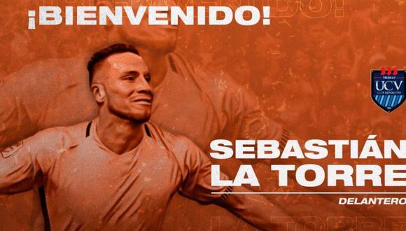 La Torre jugará para el 'Poeta'. (Foto: Prensa UCV)