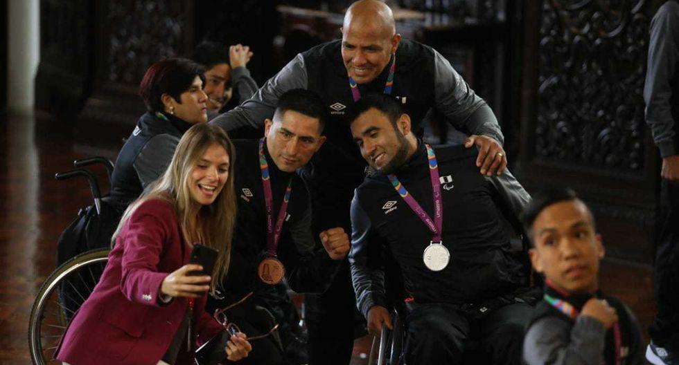 Presidente Martín Vizcarra recibió a los medallistas en los Parapanamericanos. (Foto: Violeta Ayasta / GEC)