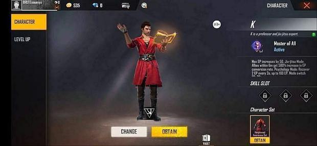 Los personajes más caros de Free Fire