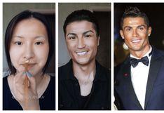 ¡Impresionante!: mujer alborota las redes sociales al 'transformarse' en Cristiano Ronaldo en solo unos minutos