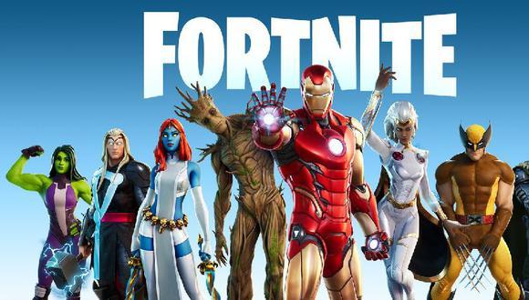 La primera tanda de skins que Fortnite tiene de Marvel (Epic Games)