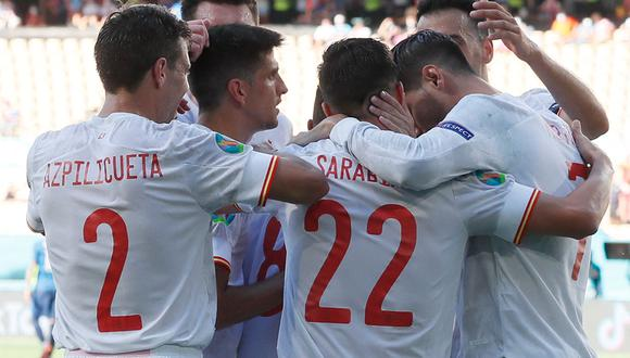 España vence 5-0 a Eslovaquia y consigue su clasificación a octavos de final de la Eurocopa 2020. (Foto: AFP)
