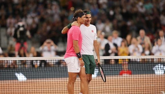 Rafael Nadal y Roger Federer en un partido benéfico, disputado en febrero en Sudáfrica. (Foto: Getty Images)
