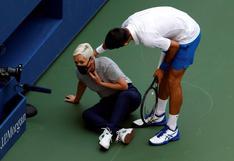 """Djokovic salió en defensa de la jueza de línea que golpeó en el US Open: """"Pido que la apoyen y cuiden"""""""