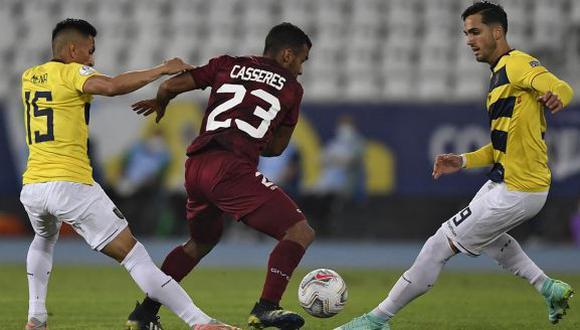 Ecuador vs. Venezuela se enfrentaron en partido por la Copa América 2021. (Foto: AP)