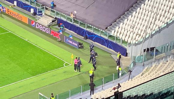 Ansu Fati tras el final del encuentro entre Barcelona y Juventus por Champions League.