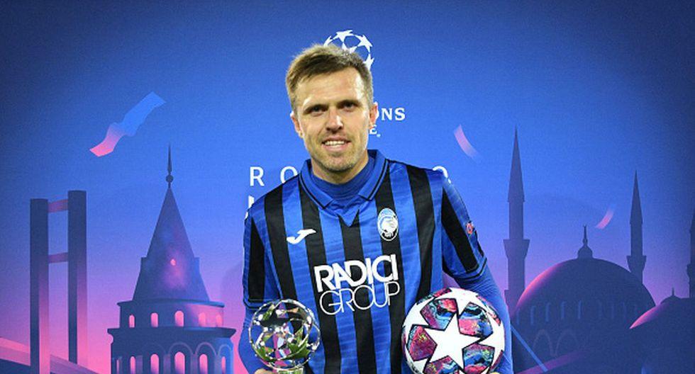 Ilicic donó su balón de la Champions League como gesto contra el coronavirus. (Getty)