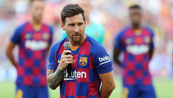 Lionel Messi ejerce la capitanía en el Barcelona desde el 2018-19. (Getty)