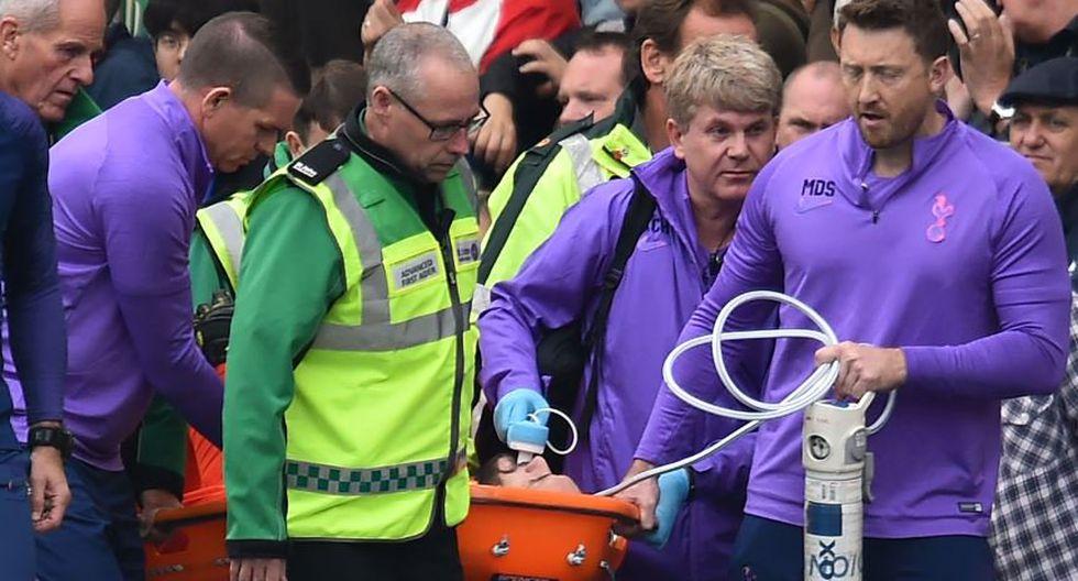 La lesión de Hugo Lloris en el Tottenham vs. Brighton. (Premier League)