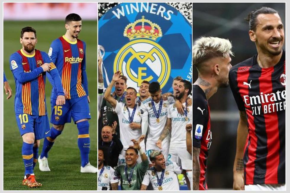 La tabla de posiciones de la Champions League de todos los tiempos. (Getty)