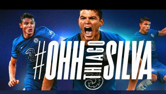El Chelsea ha anunciado este viernes el fichaje del defensa internacional brasileño Thiago Silva, de 35 años. (Chelsea)
