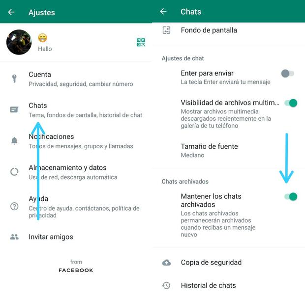 Disable the Keep Chats Archived feature (Photo: Mag)