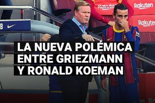 La nueva polémica entre Griezmann y Koeman tras la derrota de Barcelona en El Clásico