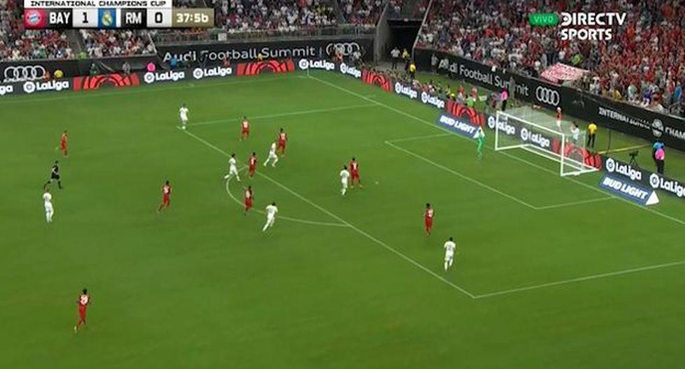 Eden Hazard hace su estreno con el Real Madrid usando la dorsal '50'. (Captura/Directv)