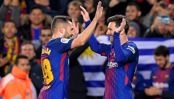 Jordi Alba se refirió al futuro de Lionel Messi en el FC Barcelona. (Foto: Twitter)