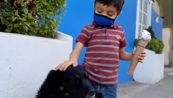 El pequeño Santi evidenció el abandono que sufren millones de perros en México, de una manera muy tierna. | Foto: @Feer_Monster