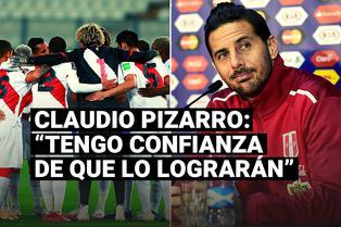 Claudio Pizarro confía que la Selección Peruana clasificará al Mundial