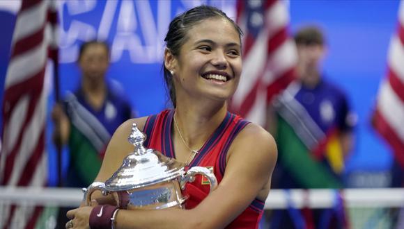 Emma Raducanu ganó el US Open frente a Leylah Fernandez. (Foto: AP)