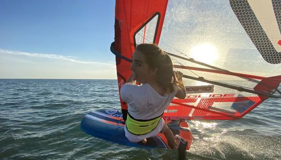 """María Belén Bazo: """"Estoy feliz de entrenar con el equipo olímpico de Windsurf de Holanda"""""""